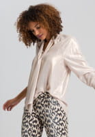 Swallow blouse in metallic-look