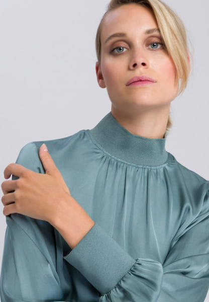 Slip-on blouse with elegant glossy effect