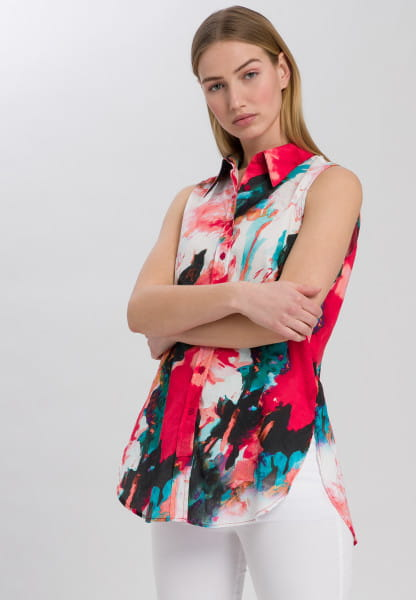 Blouse Top with all-over print