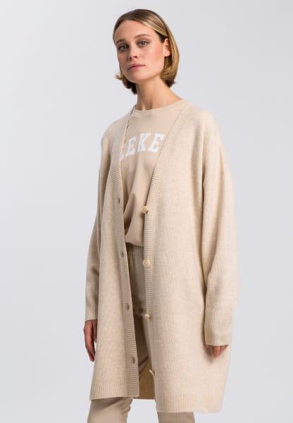 Mantel im Cardiganstil
