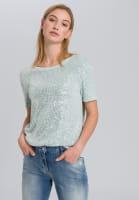 T-Shirt aus Paillettenjersey