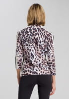 Sports jacket with leo print