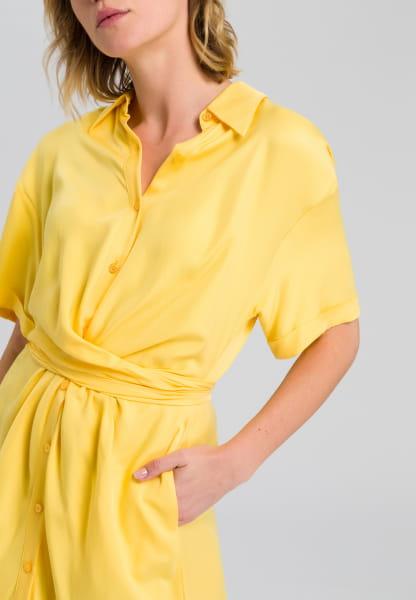 Hemdblusenkleid mit Knoteneffekt