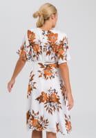 Dress with flower all-overprint