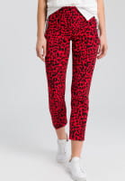 Pants with leopard print and writing band