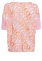 Boxy-Pullover mit Batikprint und Badge