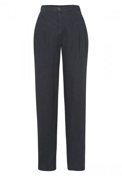 Linen trousers pleated