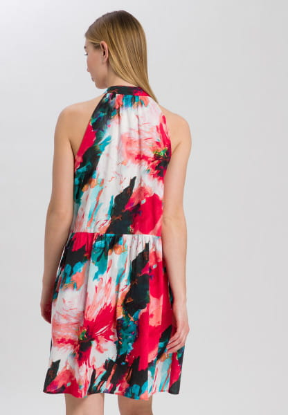 Dress with imaginative flower all-over print