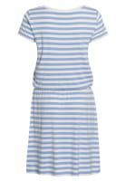 Jersey dress with stripe-print