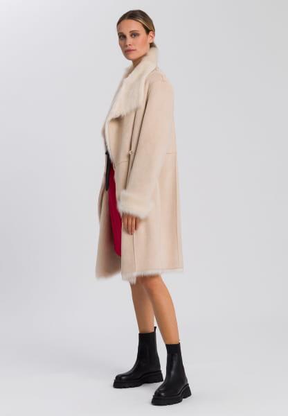 Coat made from vegan faux fur