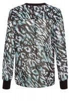 Blouse with decorative pattern print