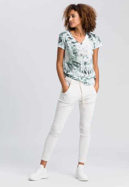 T-shirt with batik print