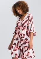 Dress in modern watercolour print