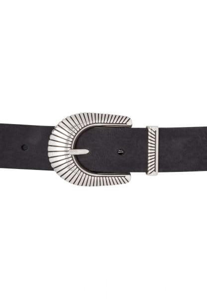 Belt with art deco buckle