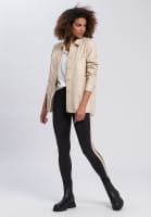 Shirt jacket made from vegan faux leather