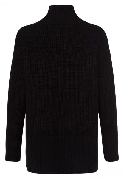 Sweater with wide stand-up collar