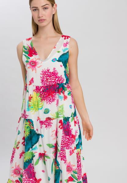 Strap Dress with caribbean print