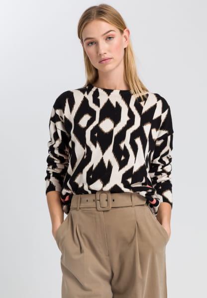 Sweaters in ethnic print