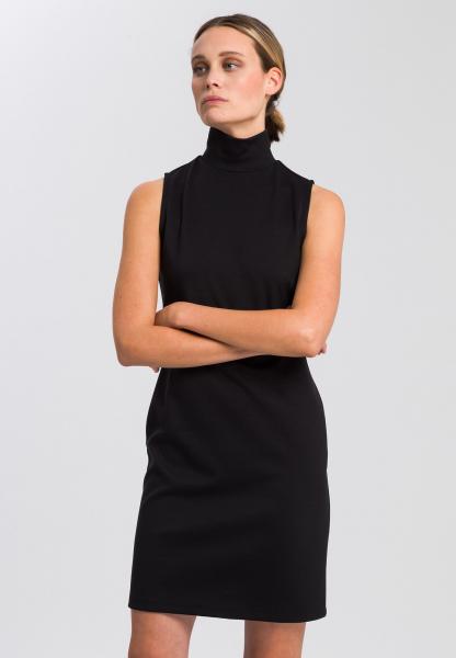 Jersey dress mit Stehkragen