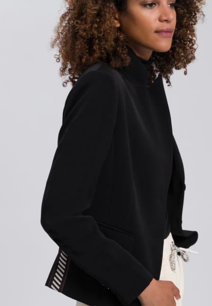 Blazer aus knitterfreiem Material mit Streifenband