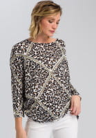 Sweaters With leopard print and chain