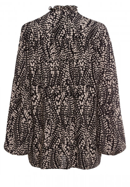 Slip-on blouse with ruffled collar