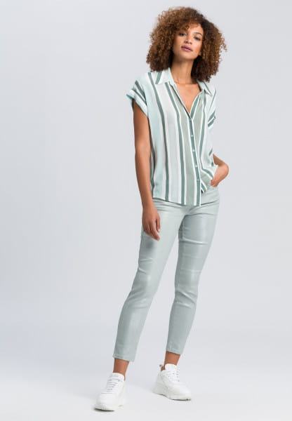 Shirt blouse in stripey look