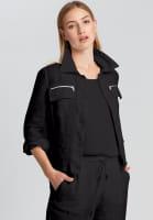 Linen jacket with zip pockets