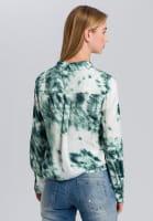 Shirt blouse with batik print