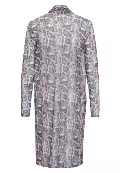 Jersey jacket with dark snake print