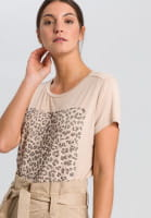 T-Shirt mit grafischem Leoprint