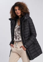 Outdoor long jacket with decorative details