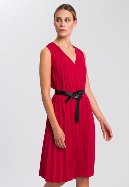Pleated dress made from crease-free material
