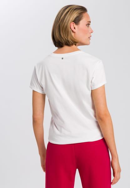 T-shirt with glitter stone emblem