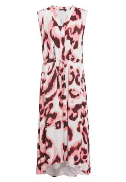 Maxi dress in modern aquarelle print