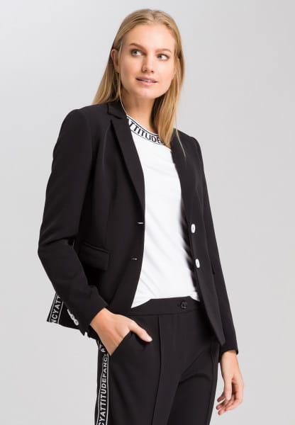 Blazer with lateral writing band