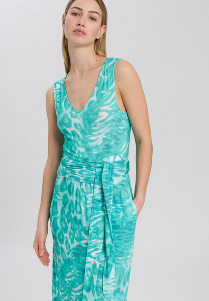 Jersey dress with animal all-over print