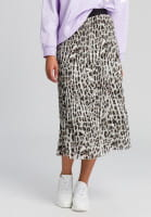 Pleated skirt in the conspicuous animal print