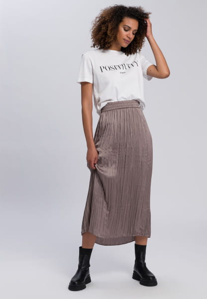 Skirt in crushed-look