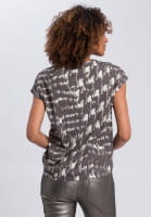 T-shirt with abstract camouflage print