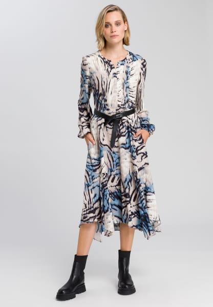 Dress with abstract animal print