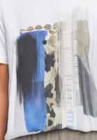 Blouse shirt with collage print