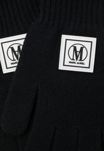 Strickhandschuhe mit Logobadge