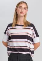 Strickshirt mit Streifenprint
