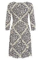 Jerseykleid mit Leoparden-Druck samt Kette