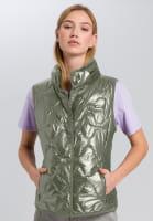 Quilted vest metallic-look