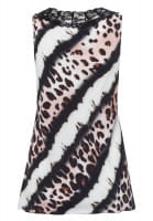 Top mit leo-batik-pattern