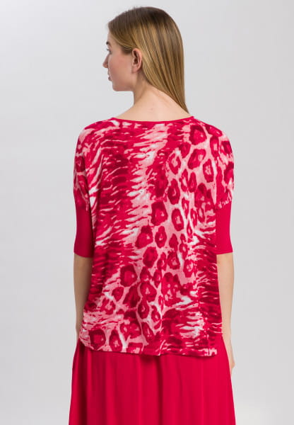 Fine-Knit Jumper with animal all-over print
