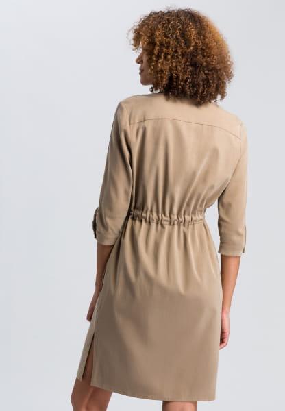 Safari dress made of sustainable twill