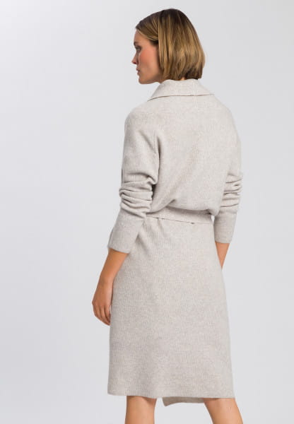 Knitted coat in fluffy look